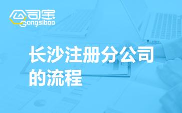 湖南长沙注册分公司的流程